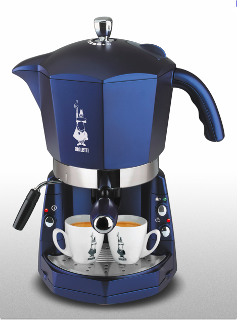 Blue Italian Coffee Maker : Bialetti mokona